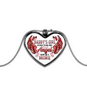 Daddy's Girl I Used To Be His Angel Metallic Heart Necklace front