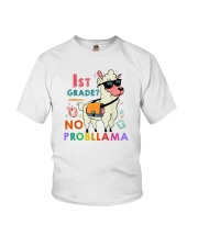 1st Grade No Probllama Youth T-Shirt front