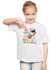 1st Grade No Probllama Youth T-Shirt lifestyle-youth-tshirt-front-2