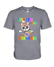 Flying Into 5th Grade V-Neck T-Shirt thumbnail