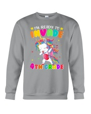 Unicorn Invade 4th Grade Crewneck Sweatshirt thumbnail