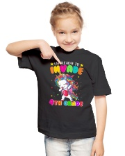Unicorn Invade 4th Grade Youth T-Shirt lifestyle-youth-tshirt-front-2