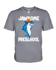 Jawsome Preschool V-Neck T-Shirt thumbnail