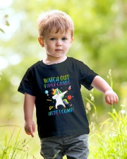 1st Grade Here I Come Youth T-Shirt lifestyle-youth-tshirt-front-5