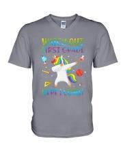 1st Grade Here I Come V-Neck T-Shirt thumbnail