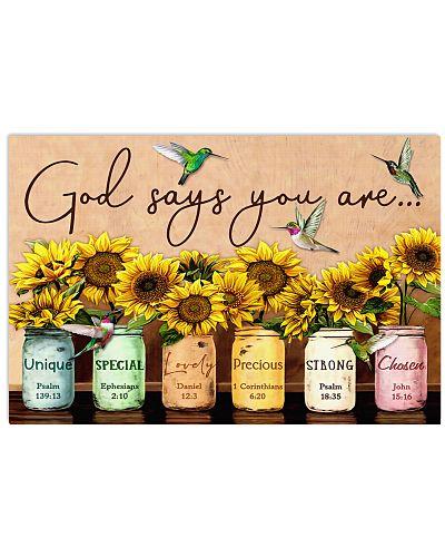 God Says You Sunflower Hummingbirds