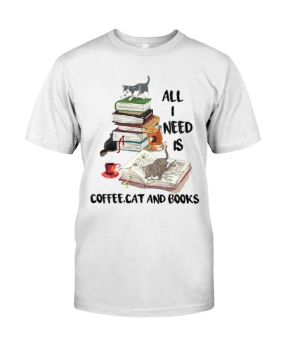 All I Need Is Coffee Cat And Books