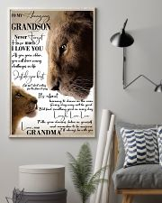 To My Amazing Grandson Laugh Love Live Lion 11x17 Poster lifestyle-poster-1