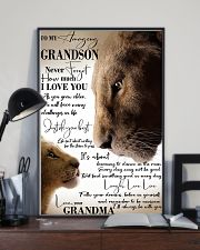 To My Amazing Grandson Laugh Love Live Lion 11x17 Poster lifestyle-poster-2