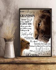 To My Amazing Grandson Laugh Love Live Lion 11x17 Poster lifestyle-poster-3