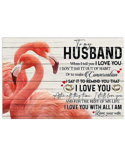 To My Husband When I Tell You I Love You