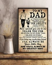 To My Dad If I Could Give You One Thing 11x17 Poster lifestyle-poster-3