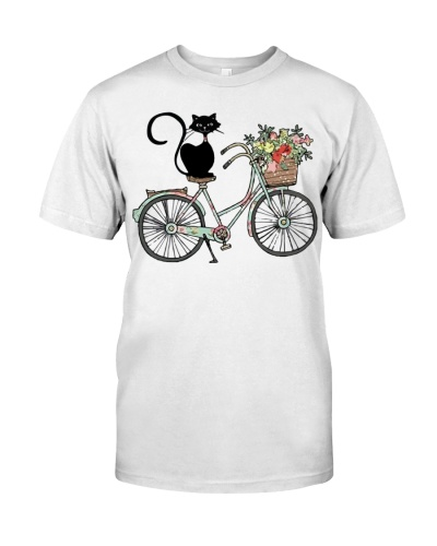 Cat And Flower Bicycle