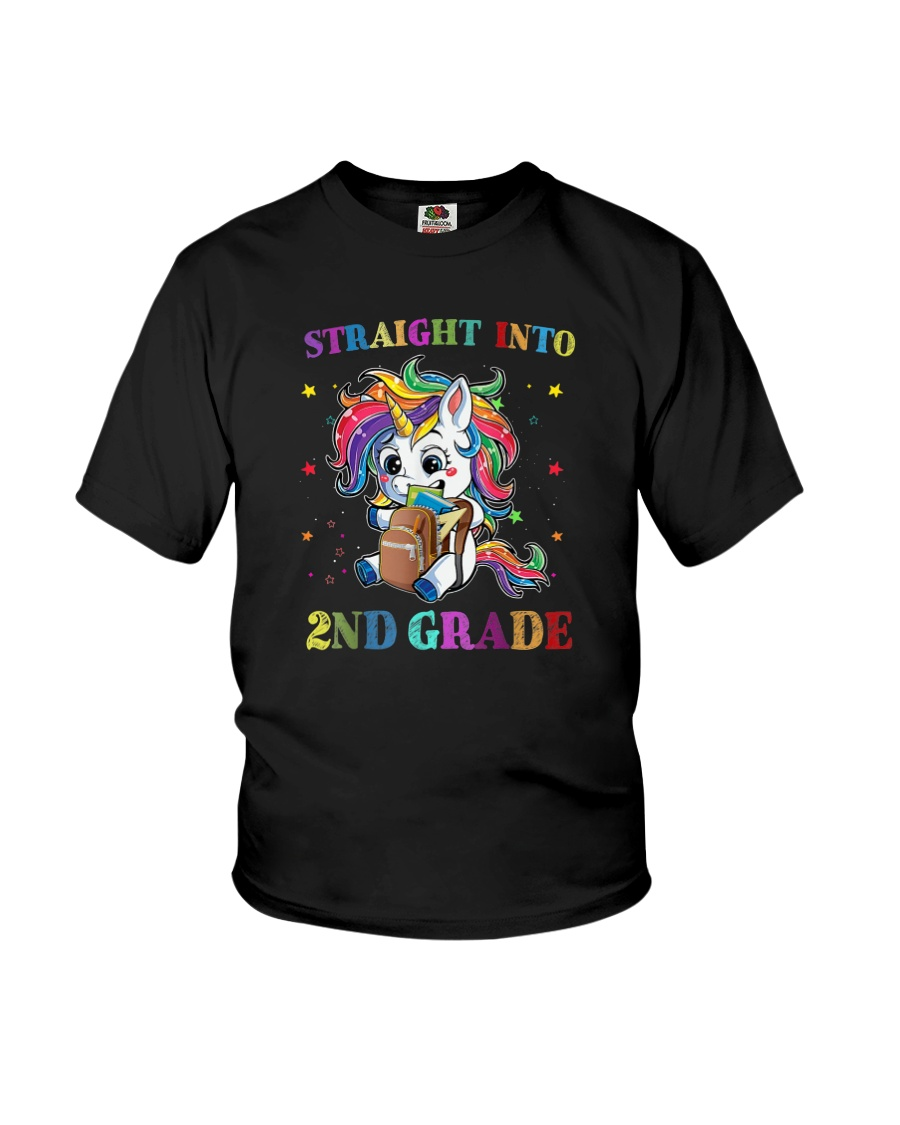 Straight Into 2nd Grade Youth T-Shirt