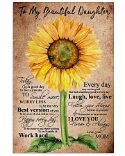 To My Beautiful Daughter Sunflower 11x17 Poster front