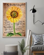 To My Beautiful Daughter Sunflower 11x17 Poster lifestyle-poster-1