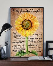 To My Beautiful Daughter Sunflower 11x17 Poster lifestyle-poster-2