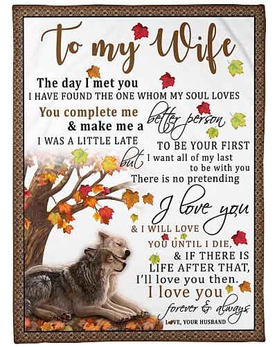 To My Wife The Day I Met You