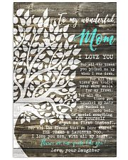 To my Wonderful Mom 11x17 Poster front