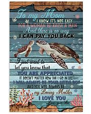 To My Mom I Know It's Not Easy 11x17 Poster front