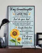 To My Granddaughter Grandma Sunflower - Poster 11x17 Poster lifestyle-poster-2