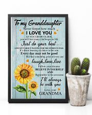 To My Granddaughter Grandma Sunflower - Poster 11x17 Poster lifestyle-poster-8