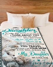 "To My Daughter Large Fleece Blanket - 60"" x 80"" aos-coral-fleece-blanket-60x80-lifestyle-front-02"