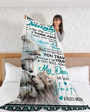 "To My Daughter Large Fleece Blanket - 60"" x 80"" aos-coral-fleece-blanket-60x80-lifestyle-front-11"