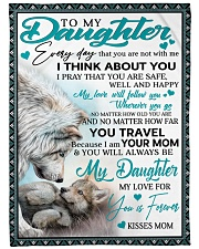"To My Daughter Large Fleece Blanket - 60"" x 80"" front"