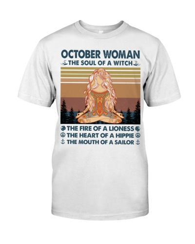 October Woman Witch Lioness Hippie Sailor