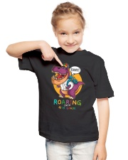 Roaring Into 4th Grade Youth T-Shirt lifestyle-youth-tshirt-front-2