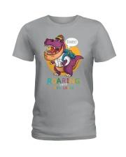 Roaring Into 4th Grade Ladies T-Shirt thumbnail