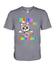 Flying Into Kindergarten  V-Neck T-Shirt thumbnail