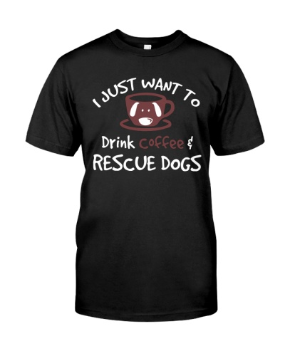 Drinking Coffee Rescuing Dogs Dog 1