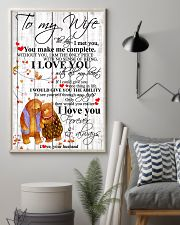 To My Wife I Met You You Make Me Complete 11x17 Poster lifestyle-poster-1