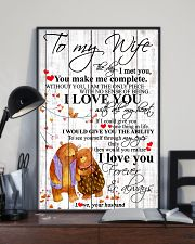 To My Wife I Met You You Make Me Complete 11x17 Poster lifestyle-poster-2