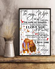 To My Wife I Met You You Make Me Complete 11x17 Poster lifestyle-poster-3