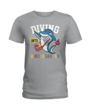 Diving Into Kindergarten Ladies T-Shirt thumbnail