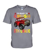 Monster Truck Crush 5th Grade   V-Neck T-Shirt thumbnail