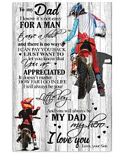 To My Dad I Know Its Not Easy Son Bike  11x17 Poster front
