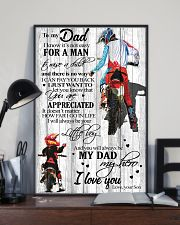 To My Dad I Know Its Not Easy Son Bike  11x17 Poster lifestyle-poster-2