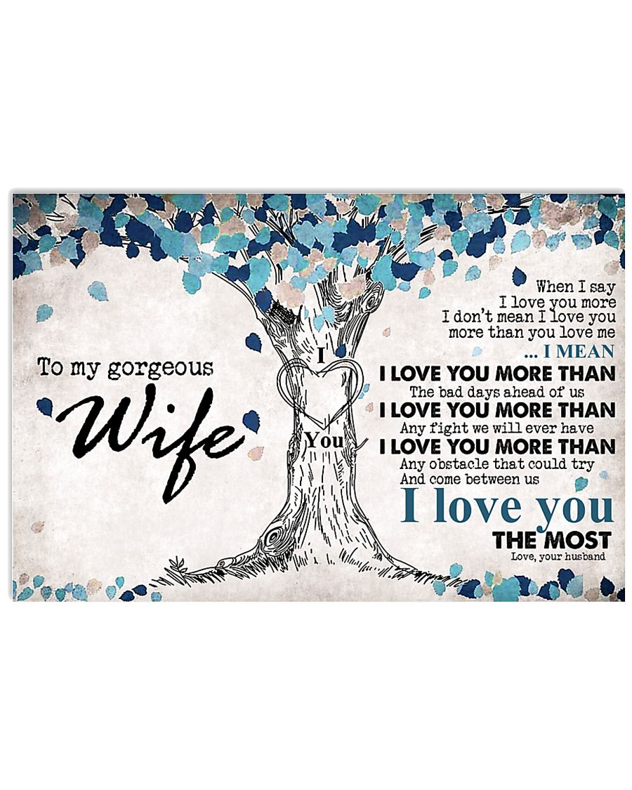 To My Beautiful Wife 17x11 Poster