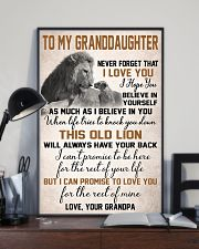 To My Granddaughter 11x17 Poster lifestyle-poster-2