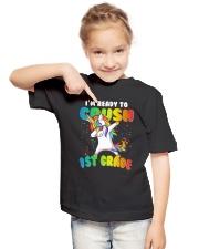 1st grade Unicorn Ready to Crush 3  Youth T-Shirt lifestyle-youth-tshirt-front-2