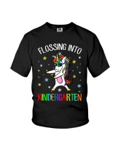 Flossing Into Kindergarten Youth T-Shirt front