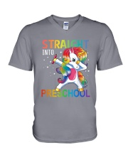 Straight Into Preschool V-Neck T-Shirt thumbnail