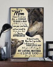 To My Mom I Know Its Not Easy Gor A Woman 11x17 Poster lifestyle-poster-2