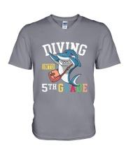 Diving Into 5th Grade V-Neck T-Shirt thumbnail