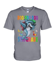 Doo Doo Doo Into 5th Grade V-Neck T-Shirt thumbnail