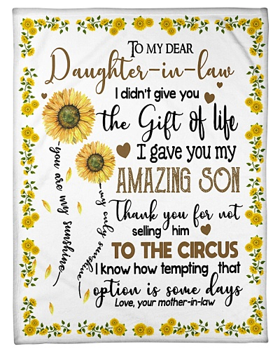 To My Daughter In Law You Are My Sunshine